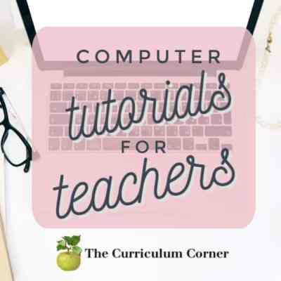 Computer Tutorials for Teachers