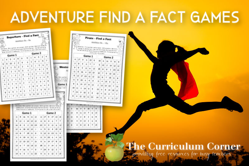 These free adventure addition fact games will help you offer addition fact practice in a fun and engaging format!