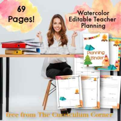 Camping Teacher Planning Binder