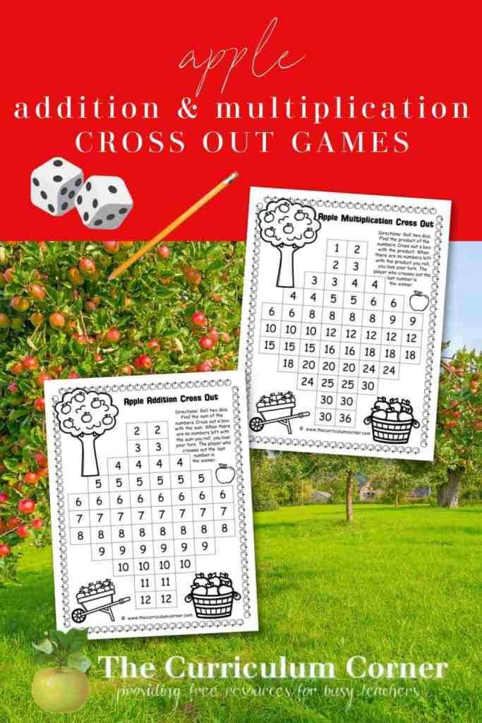 These free camping Apple Cross Out Games are a fun addition to your apple picking themed math games.