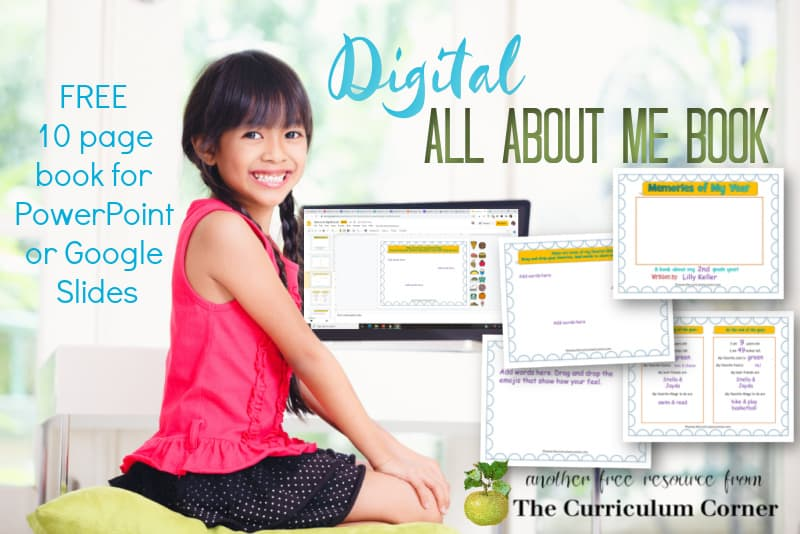 This digital all about me book will be a good way to get to know your students and record memories from the year.