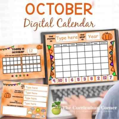 October Digital Calendar
