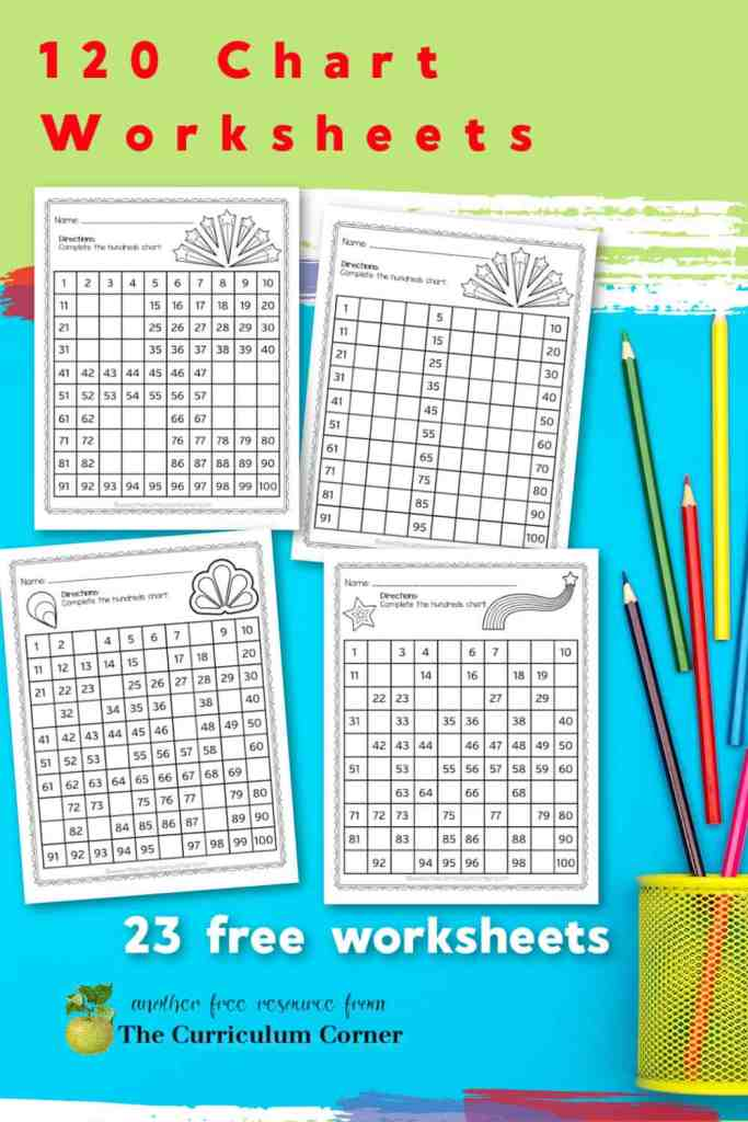 This collection of free 120 chart worksheets will help your children practice completing 120 charts with missing numbers.