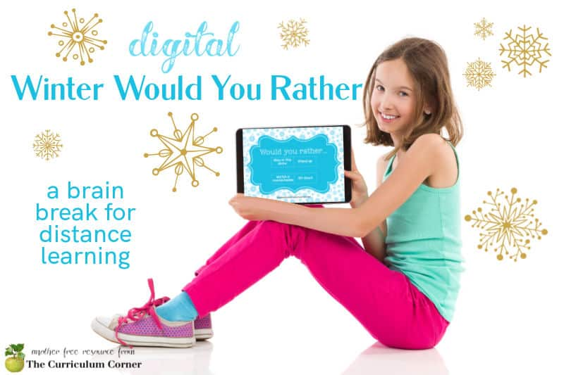Add this winter digital would you rather set of slides to your distance learning collection for the classroom.