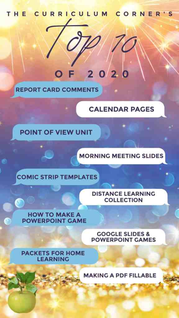 Welcome to The Curriculum Corner's Top 10 Posts of 2020