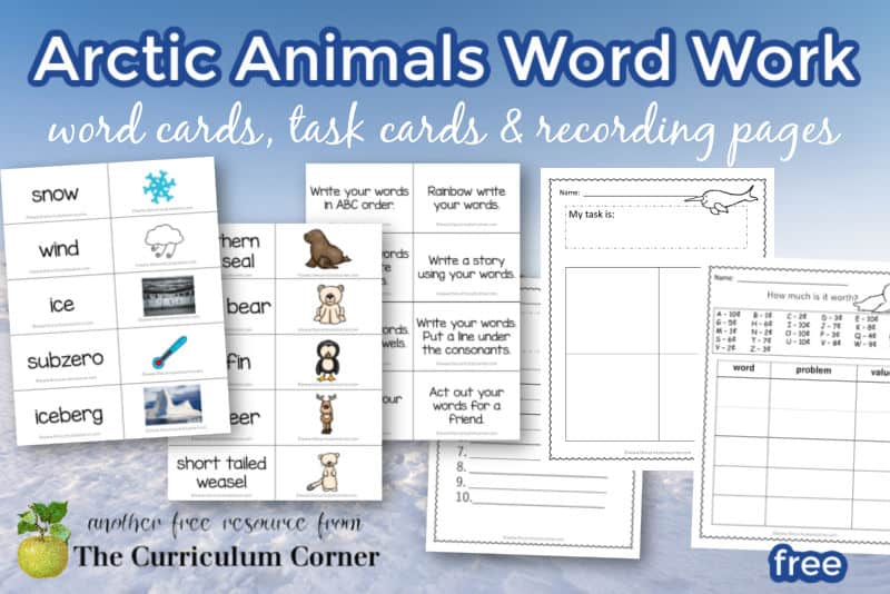 Add this Arctic word work collection to your study of the Arctic and Arctic animals.
