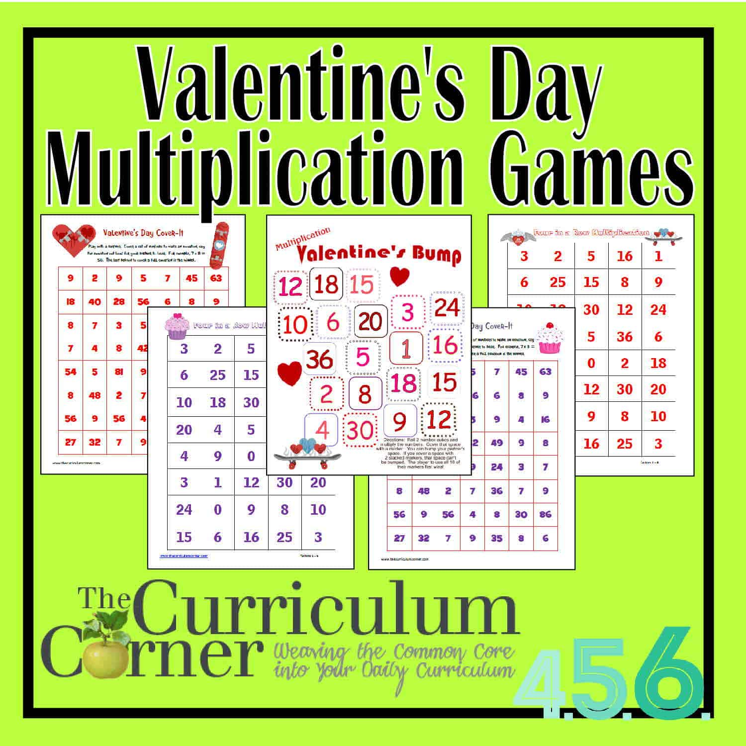 Valentine Multiplication Worksheet