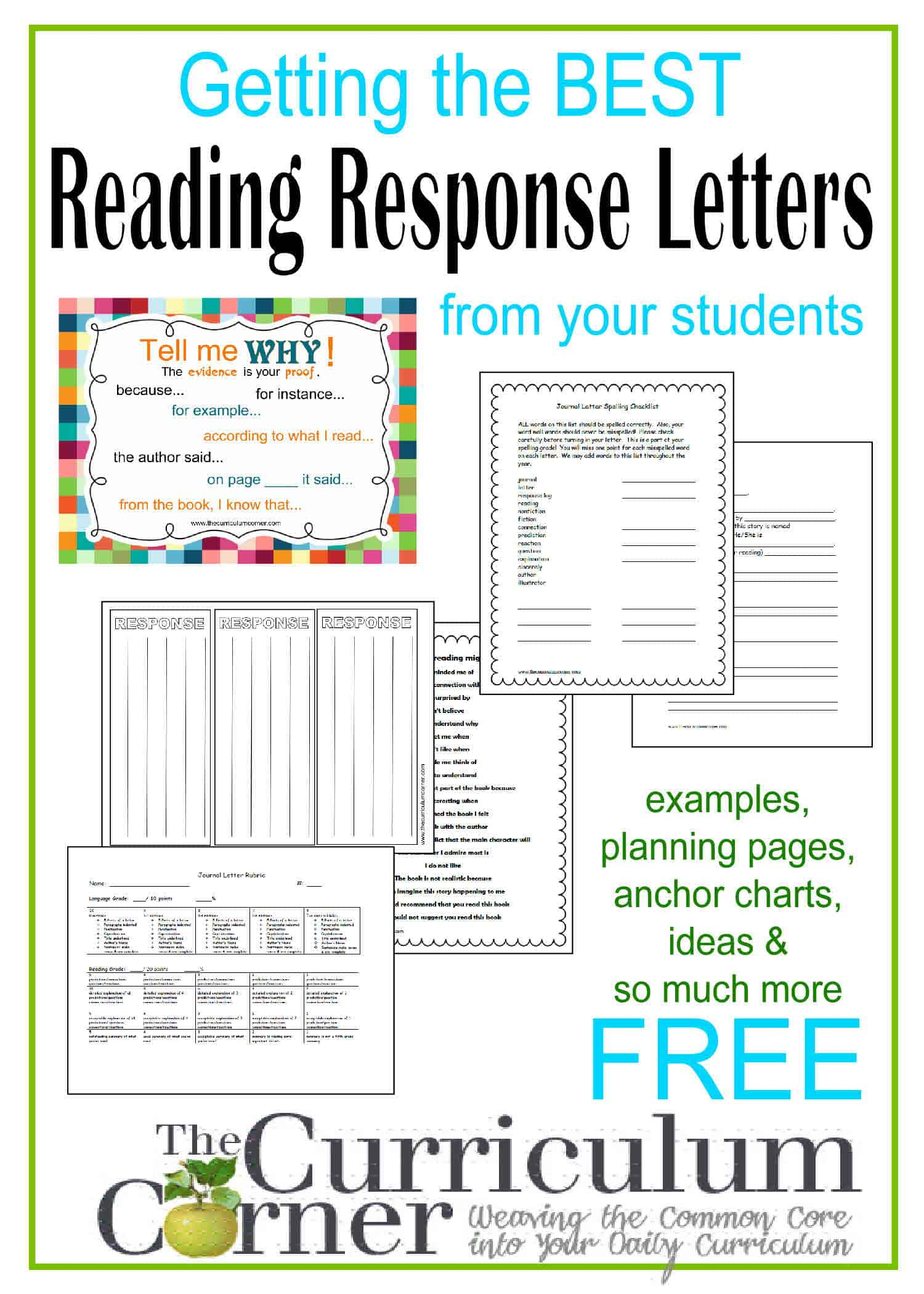 Reading Response Letters