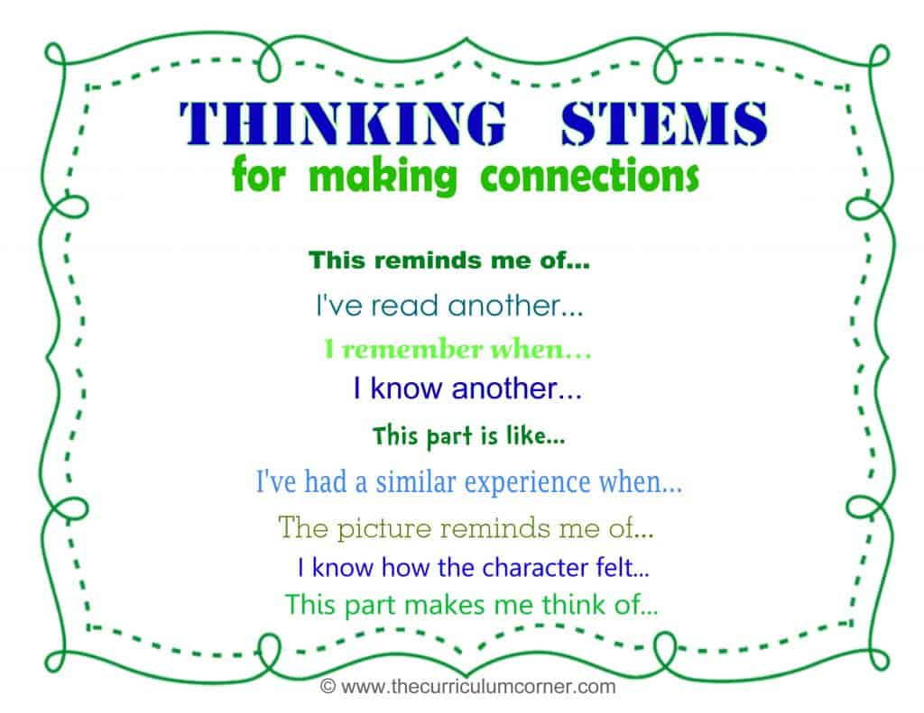 Close Reading Making Connections While Reading