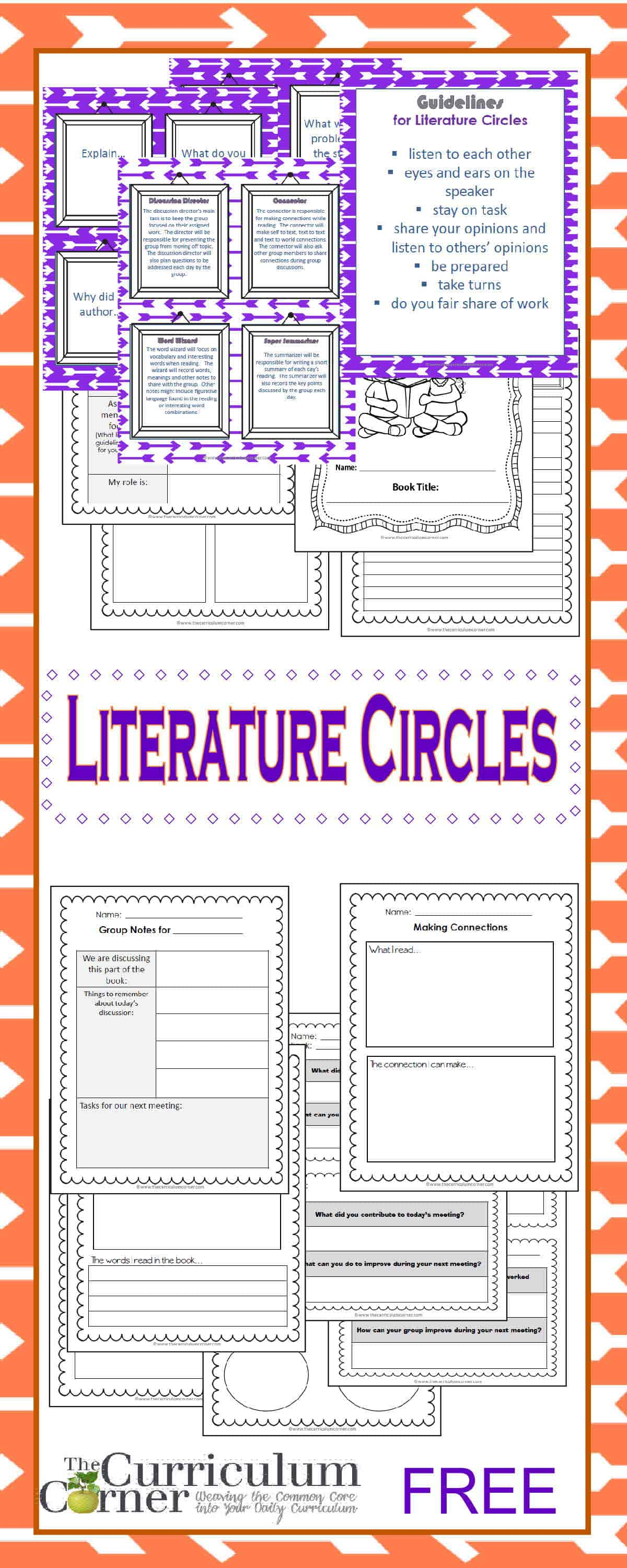 Literature Circle Resources Free From The Curriculum