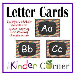 Large Letter Cards by The Curriculum Corner