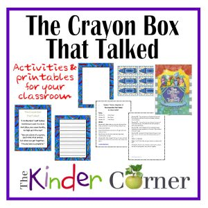 The Crayon Box That Talked printables and activities from The Curriculum Corner