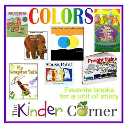 Books to accompany a colors unit of study by The Curriculum Corner
