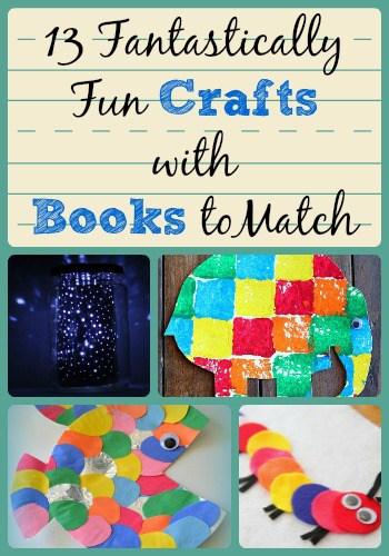 13 Funtastically Fun Crafts with Books to Match Guest Post on The Curriculum Corner from AllFreeKidsCrafts.com
