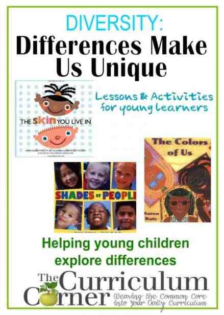 Diversity unit of study for preschool, pre-kindergarten & kindergarten | read alouds, activities, writing lessons and more | free | www.thecurriculumcorner.com