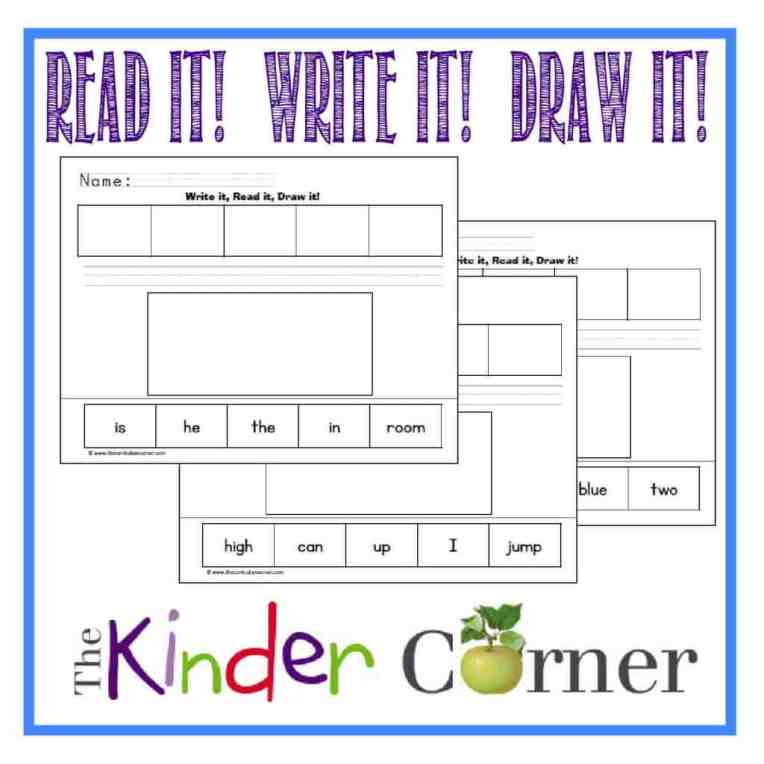 Read it, write it, draw it simple scrambled sentences by The Curriculum Corner