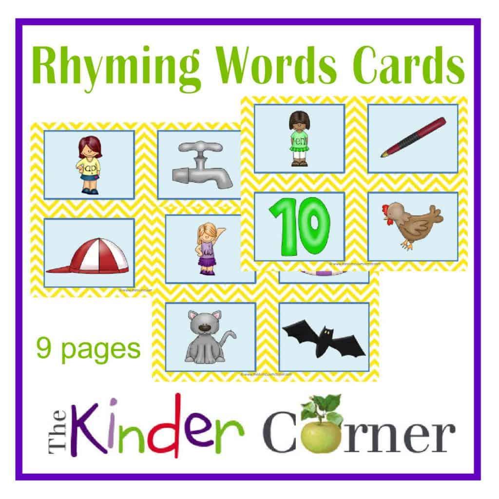 Rhyming Words Sorting Cards