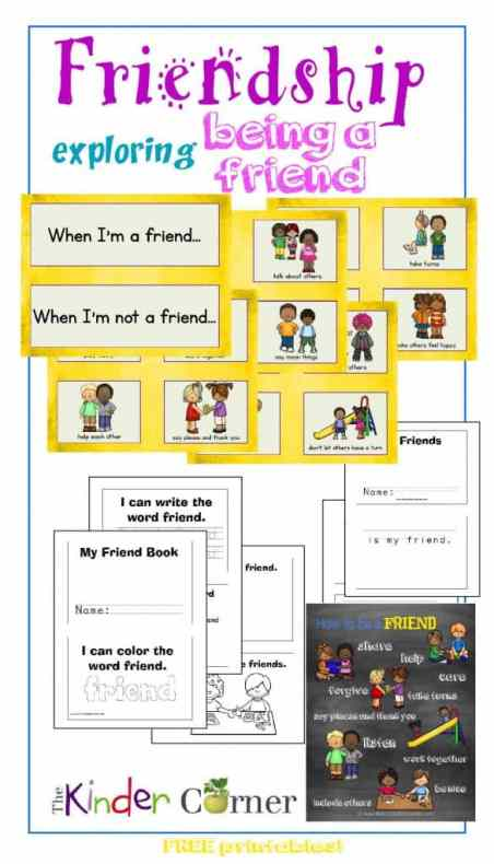 Friendship Card Sort, booklet, friends book, friendship poster & more FREE from The Curriculum Corner