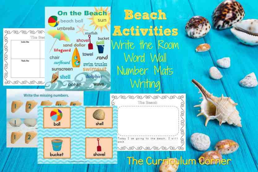 FREE Printable Beach Themed Activities for Learning from The Curriculum Corner