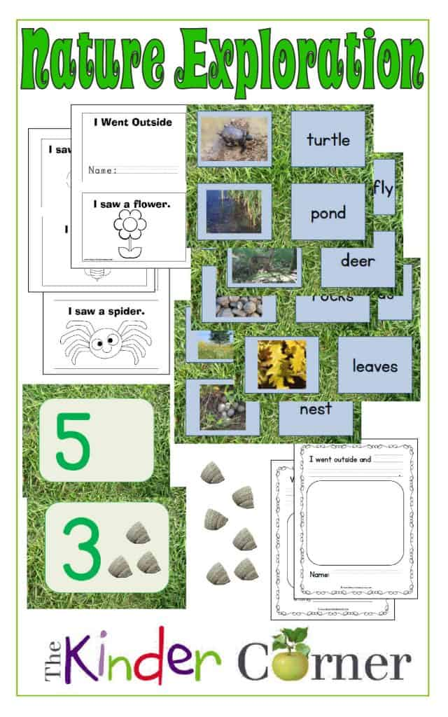 Nature Exploration Academic Activities for Early Learnings free from The Curriculum Corner