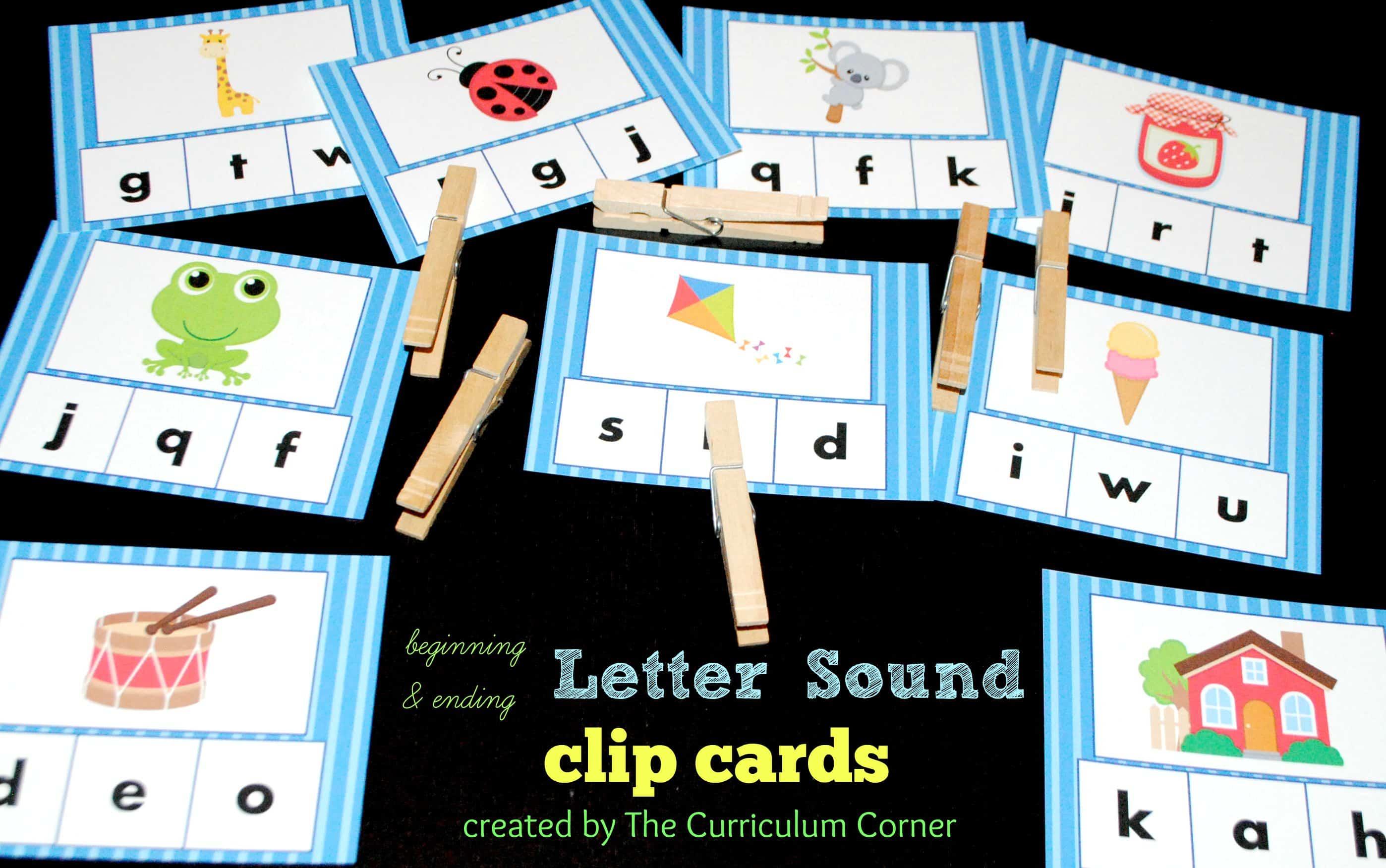 Beginning Amp Ending Sound Clip Cards