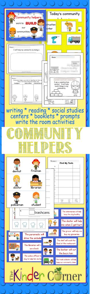 Community Helpers : Collection by The Curriculum Corner FREE from The Curriculum Corner | centers, sorts, write the room & more!