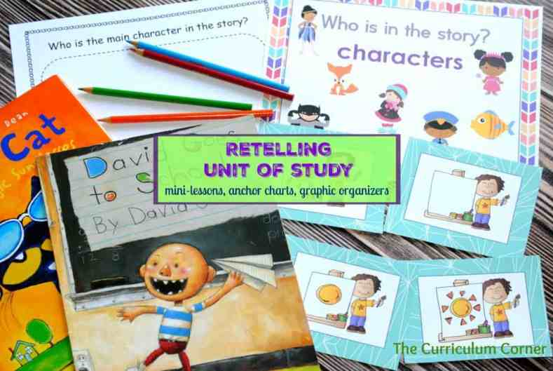 Retelling Unit of Study FREE from The Curriculum Corner for Kindergarten