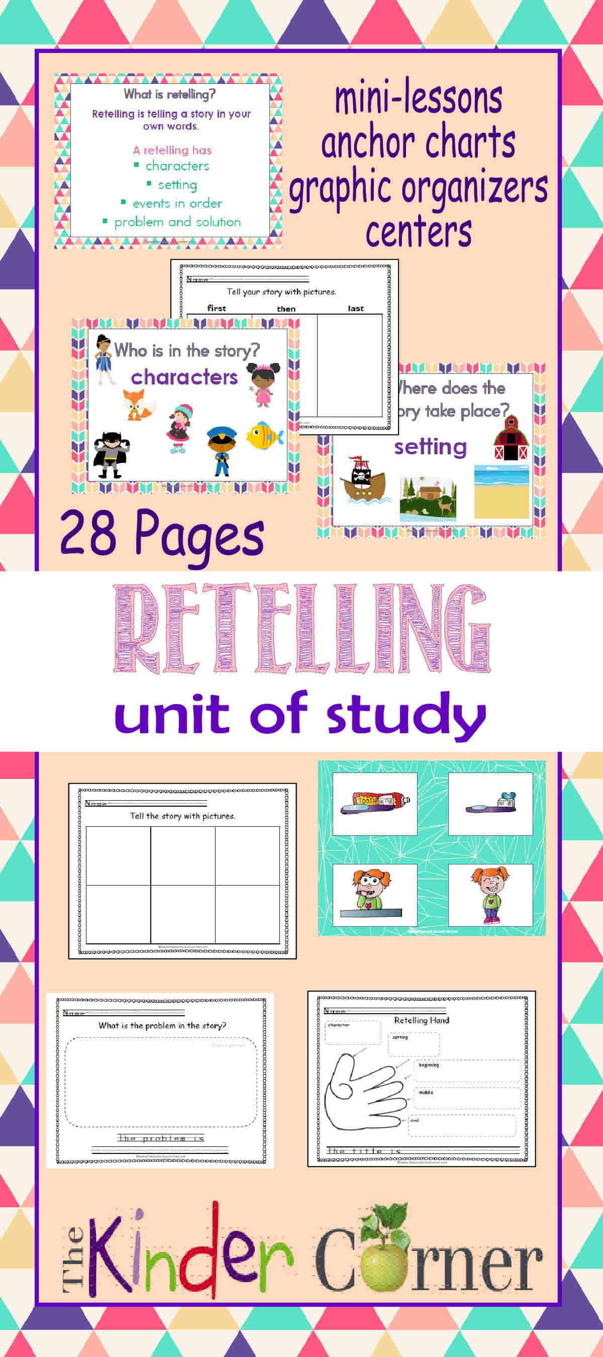 retelling unit of study the kinder corner