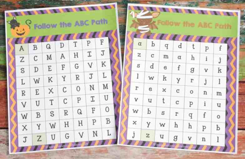 ABC Maze FREE COLLECTION! 20 Halloween Themed Math & Literacy Centers from The Curriculum Corner