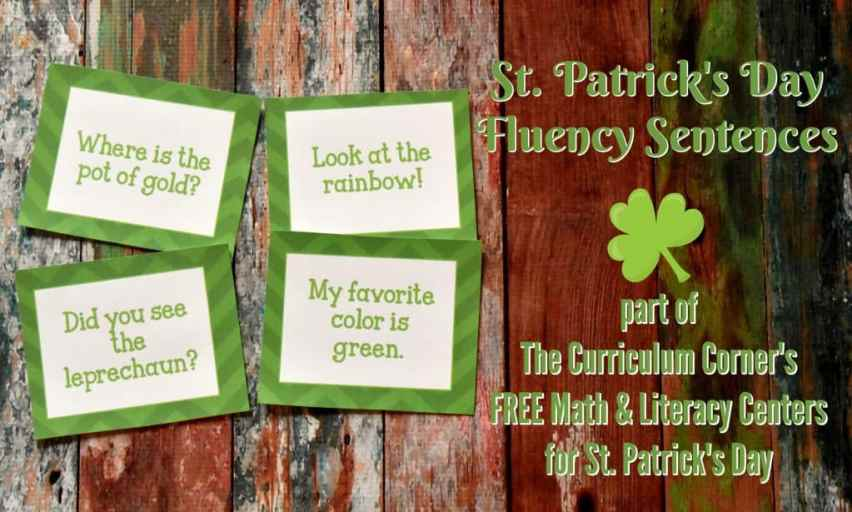 FREE St. Patrick's Day Math & Literacy Centers from The Curriculum Corner