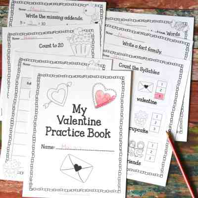Valentine Print & Go Practice Pages