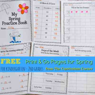 Spring Print & Go Pages