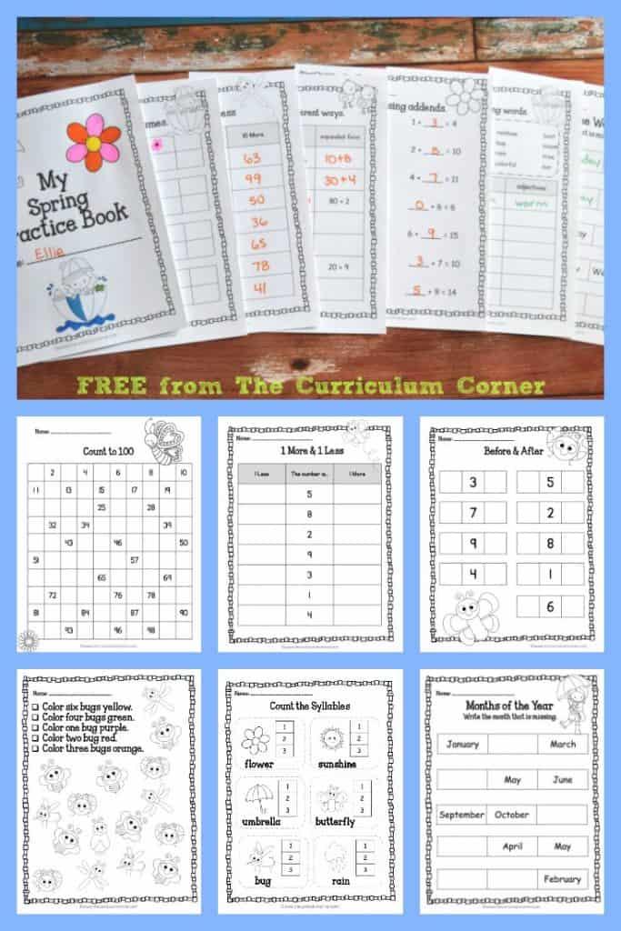 Spring Worksheets   Spring Practice Pages