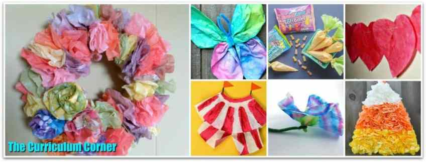 Coffee Filter Crafts from The Curriculum Corner