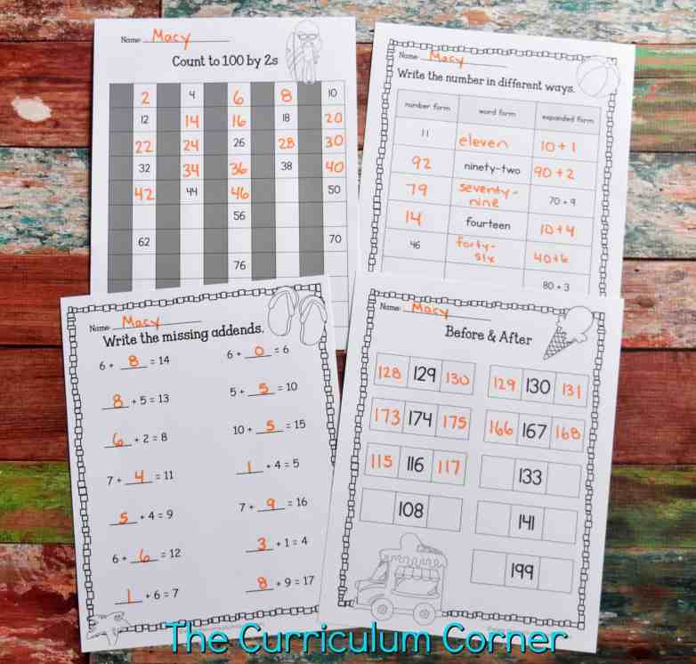 FREE Summer Print & Go Pages | Summer Worksheets from The Curriculum Corner 3