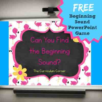 Beginning Sounds PowerPoint Game