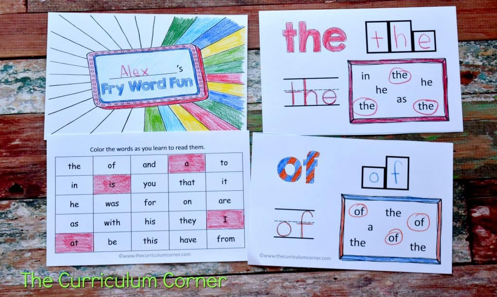 These sight word practice booklets are designed to provide beginning of the year practice for your students.