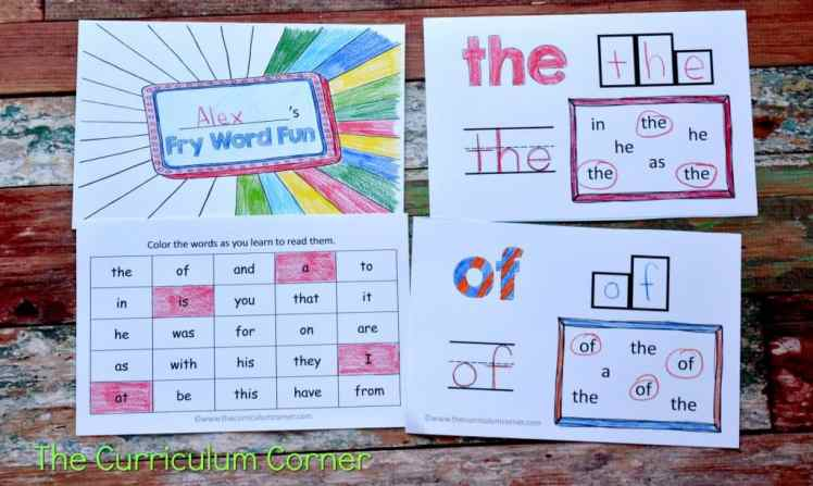 Fry Word Fun Booklet - Sight Word Practice Booklets