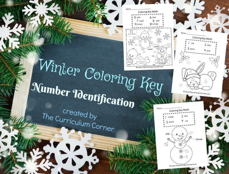 Help students practice number identification with this winter color by number set, a free resource for teachers from The Curriculum Corner.