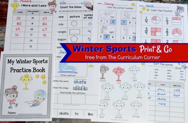 Winter Sports Worksheets 2