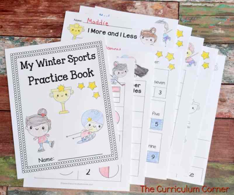 This free collection of math and literacy winter sports themed printables (winter sports worksheets) for print & go review is designed for skill practice.