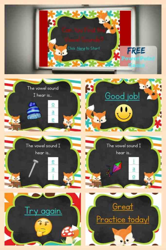 FREE Vowel Sounds Game from The Curriculum Corner