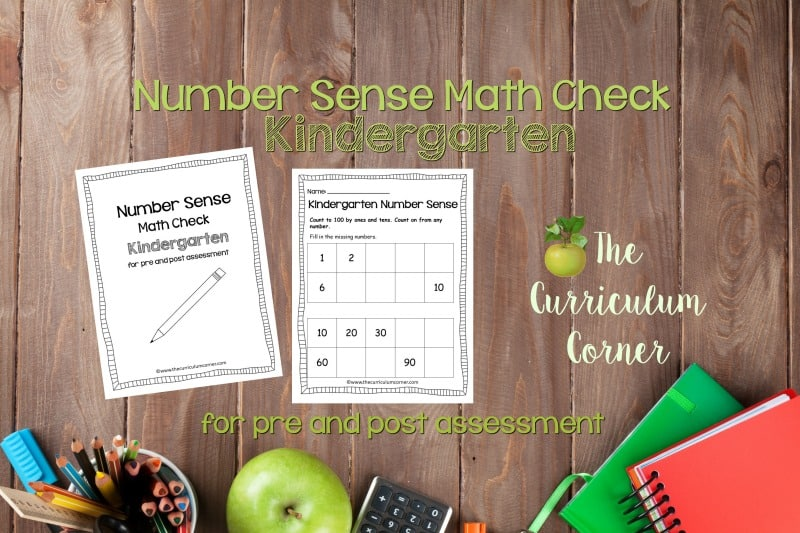 This Kindergarten Number Sense Math Check is designed to be a pre and post assessment for number sense standards in your math classroom.