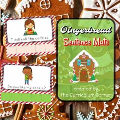 Gingerbread Sentence Mats