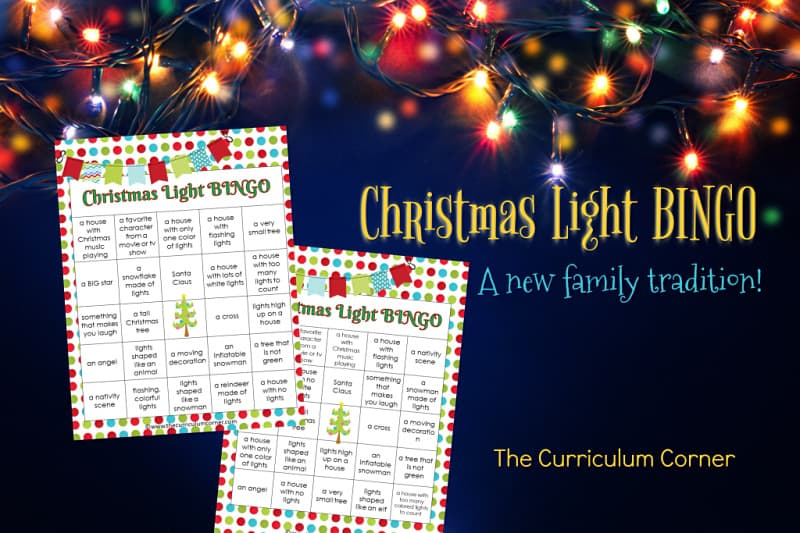Try our free Christmas Light BINGO as your new winter family tradition! Complete this activity with your own family or send home for the families of your students to enjoy.