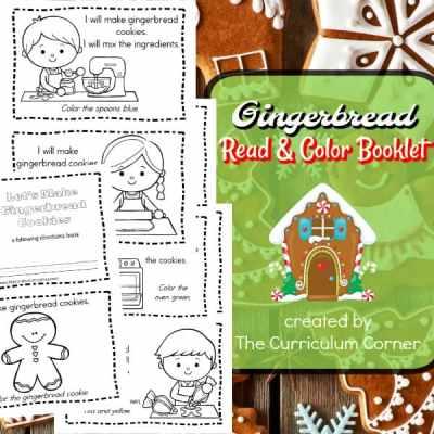 Gingerbread Read & Color Book