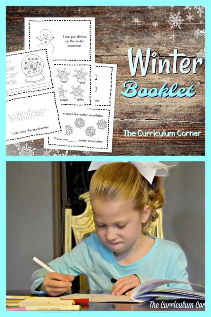 This simple winter booklet is perfect for your kindergartners! It can be a great addition to their take home books for practice.