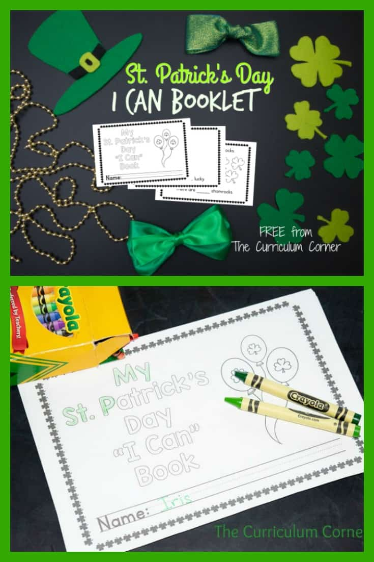 This simple St. Patrick's Day booklet is perfect for your upper preschoolers or kindergartners for the holiday!