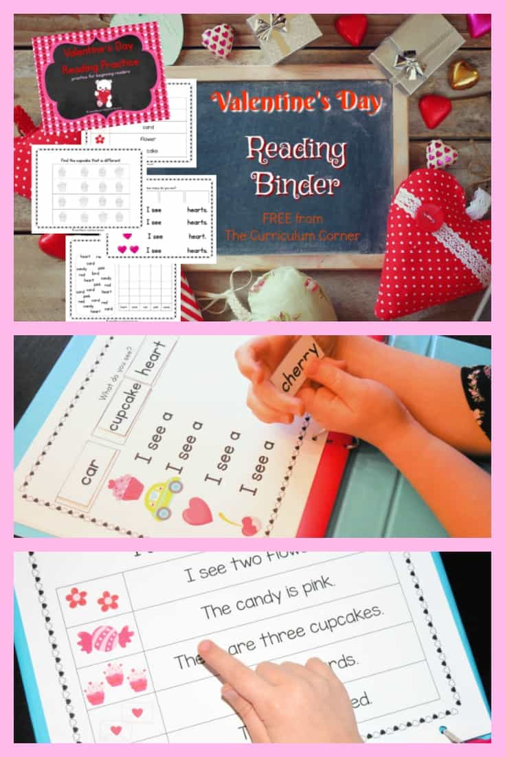This Valentine's Day reading binder is designed to help you create a quick and ready to go binder for your young readers. FREE from The Curriculum Corner