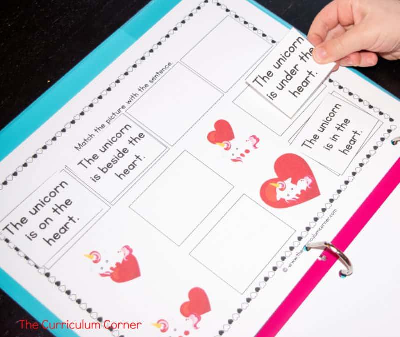 Valentine's Day Reading Intervention Binder free from The Curriculum Corner 3